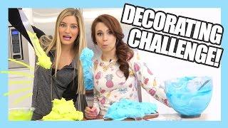 Cake Decorating Challenge with Ro | Nerdy Nummies | iJustine
