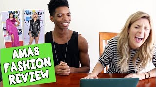 AMAs FASHION REVIEW w/ KINGSLEY // Grace Helbig