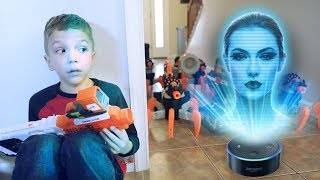 Nerf War:  The Alexa Army