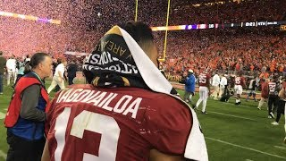 Follow Tua Tagovailoa off the field after the National Championship