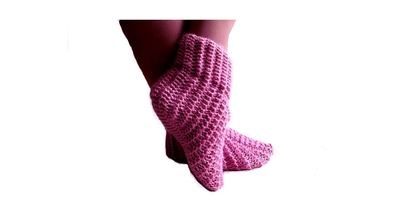 Видеоурок по вязанию тапочек носков