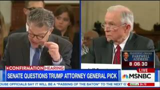 Busted  Al Franken Completely Humiliates Jeff Sessions For Lying To The Senate   YouTube