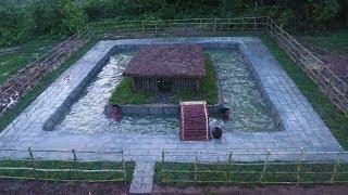 Set Up Brick and fences around Swimming Pool
