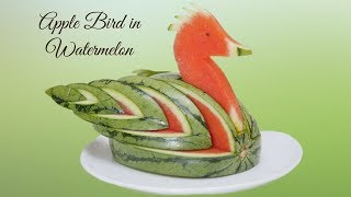 HOW TO MAKE A  WATERMELON BIRD    Fruit & Vegetable Carving