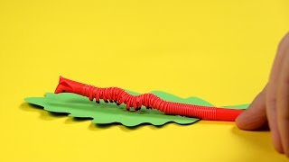 Sehen aus und bewegen sich wie waschechte Raupen: Trinkhalmwürmer.