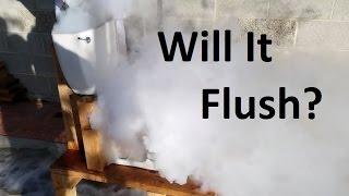Flushing Liquid Nitrogen