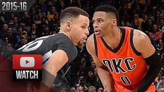 Stephen Curry vs Russell Westbrook PG DUEL Highlights (2016.02.06) Warriors vs Thunder - EPIC!