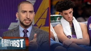 Lonzo Ball is dead last in FG percentage and FT percentage in the NBA | FIRST THINGS FIRST
