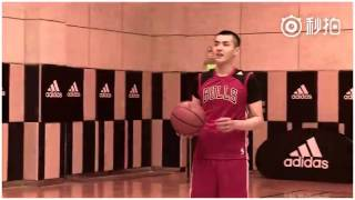 Kris Wu Yifan Basketball Practice for the upcoming NBA AllStar