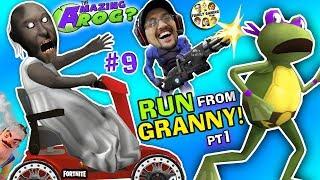 AMAZING FROG ESCAPE from GRANNY!  WE STOLE HER CART! (FGTEEV Ninja Turtles Hello Neighbor Drama) #9