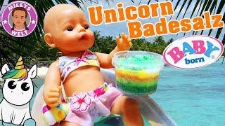BABY BORN badet in DIY UNICORN BADESALZ - Badespaß für Lotta | Mileys Welt