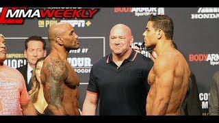 UFC 241 Ceremonial Weigh-Ins: Yoel Romero vs Paulo Costa