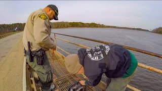 WEIRDEST day ever MAGNET FISHING (game warden called)