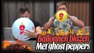 Wedstrijdje ballonnen blazen met Ghost peppers