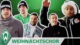 🎤🎶Weihnachts-Chor der Werder-Profis mit Claudio Pizarro, Serge Gnabry, Max Kruse | SV Werder Bremen