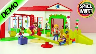 Playmobil KINDERBETREUUNG KITA Kindergarten Spielgruppe Deutsch - EMMA BALD IN DIE NEUE KITA?