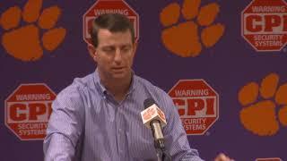 TigerNet: Dabo Swinney press conference, pt. 1