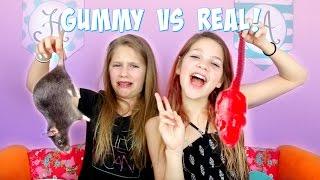 Gummy vs Real Food Challenge   Annie and Hope JazzyGirlStuff