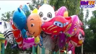Balon Mainan Anak Kecil - Balon Karakter Masha, Boboiboy, Upin Ipin - Toys Kids Balloon Air