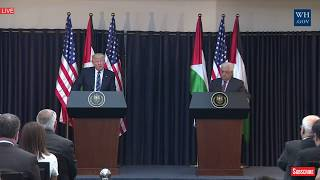 POWERFUL: President Donald Trump Palestine Speech, Press Conference President Abbas,Bethlehem Speech