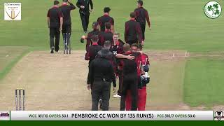 Live Cricket - Irish Senior Cup Final - Pembroke vs Waringstown