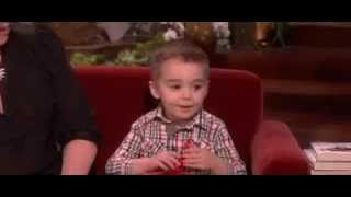 Cute child says ellen is most beautifull in the world on the ellen show