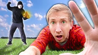 HACKER BATTLES ME on Scavenger Hunt Searching Minerals (Project Zorgo Battle Royale in Real Life)