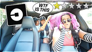 Picked Up JAZZ & TAE In An UBER UNDER DISGUISE!!!