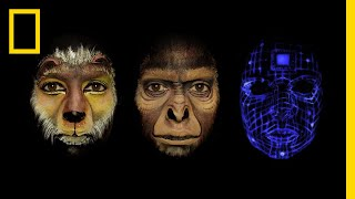 Watch Face Paint Tell the Story of Human Evolution in One Minute | Short Film Showcase