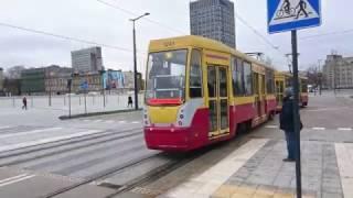 Najnowsza trasa tramwajowa w Polsce. Przejazd ul. Tramwajowa - Dworzec Łódź Fabryczna.