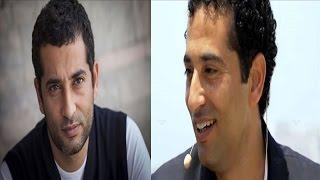 ظهور نادر لزوجة عمرو سعد وابنه في عرض خاص والزعيم يلتقط صور معهما