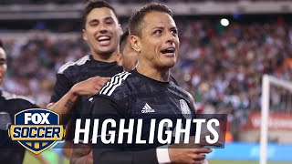 Chicharito's header gives Mexico 1-0 lead over USMNT | 2019 International Friendly Highlights