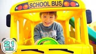 Assembling video Compilation by Xavi - Yaya School Bus Slide, Playhouse, Tayo Bus, Excavator ride on