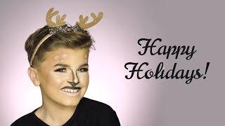 Reuben's Reindeer Makeup Tutorial