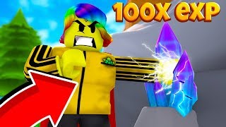 I Discovered How To Get 100X EXP for FREE!  (Roblox Super Power Training Simulator)