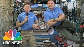President Donald Trump Calls International Space Station To Congratulate Astronaut | NBC News