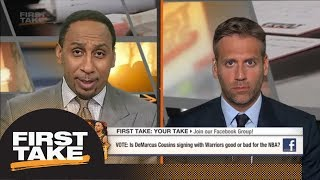 Max on Warriors adding DeMarcus Cousins: Other teams need to step their game up | First Take | ESPN