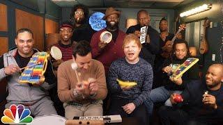 "Jimmy Fallon, Ed Sheeran & The Roots Sing ""Shape of You"" (Classroom Instruments)"
