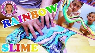 RAINBOW SLIME EINHORNKOTZE - 8 Schleimfarben mixen - Regenbogen Schleim | Mileys Welt