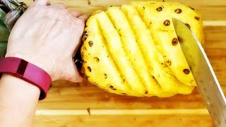 How to Cut Pineapple in Under 2 Minutes Like a Pro | Food Art @ Guru