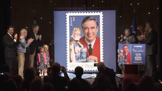 Mister Rogers Forever Stamp Dedicated (Video)