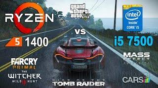 Ryzen 5 1400 OC vs i5 7500 Test in 6 Games (GTX 1060)