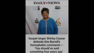 SHIRLEY CAESAR Defends KIM BURRELL About Gay Marriage And Obama Legalizing It (VIDEO)