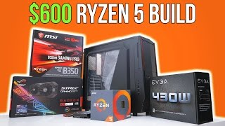 $600 Ryzen 5 Gaming PC | Time Lapse Build