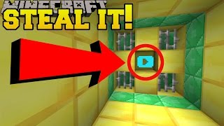 Minecraft: STEALING THE DIAMOND PLAY BUTTON!!! - Custom Map