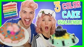 3 COLOR CAKE DECORATING CHALLENGE! W/ MR. KATE