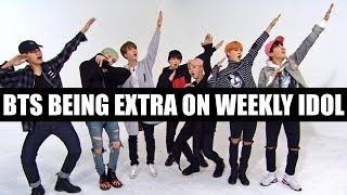 BTS BEING EXTRA ON WEEKLY IDOL