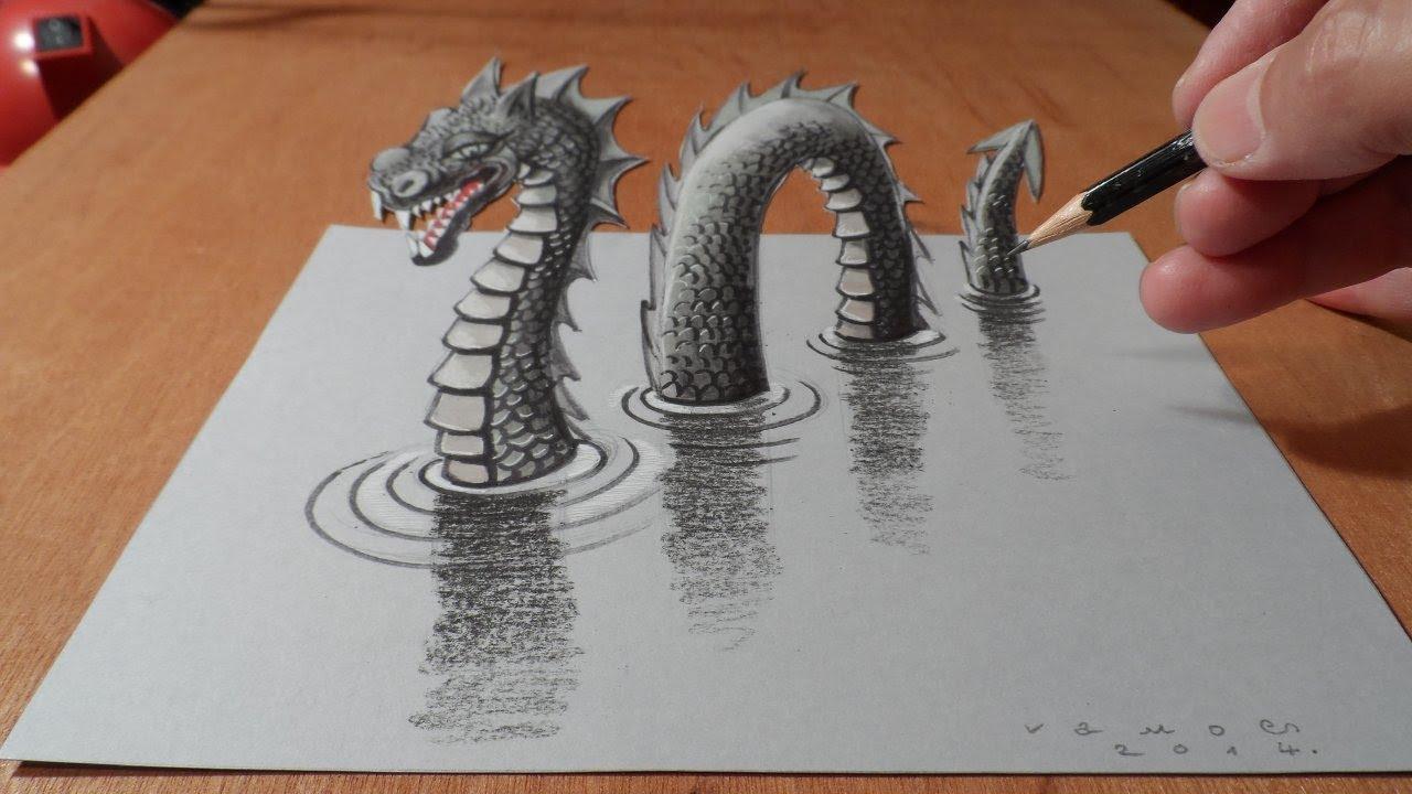 Как сделать 3д рисунок на бумаге карандашом