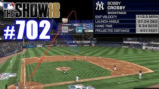 517-FOOT HOMER IN THE PLAYOFFS!   MLB The Show 18   Road to the Show #702