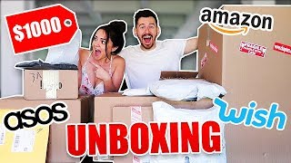 I Gave Away My Credit Card for a Day UNBOXING!! (HUGE WISH, ASOS AND AMAZON HAUL W/ MY GIRLFRIEND)